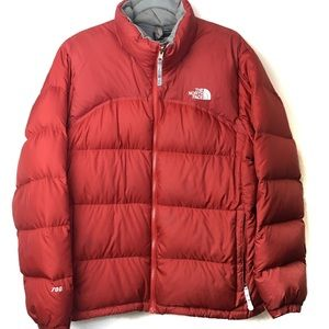 The North Face Red Orange Winter Jacket